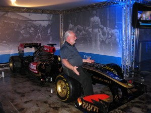 Me with a Team Lotus F1 Racecar