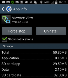 Screenshot of View Client Info on My Android
