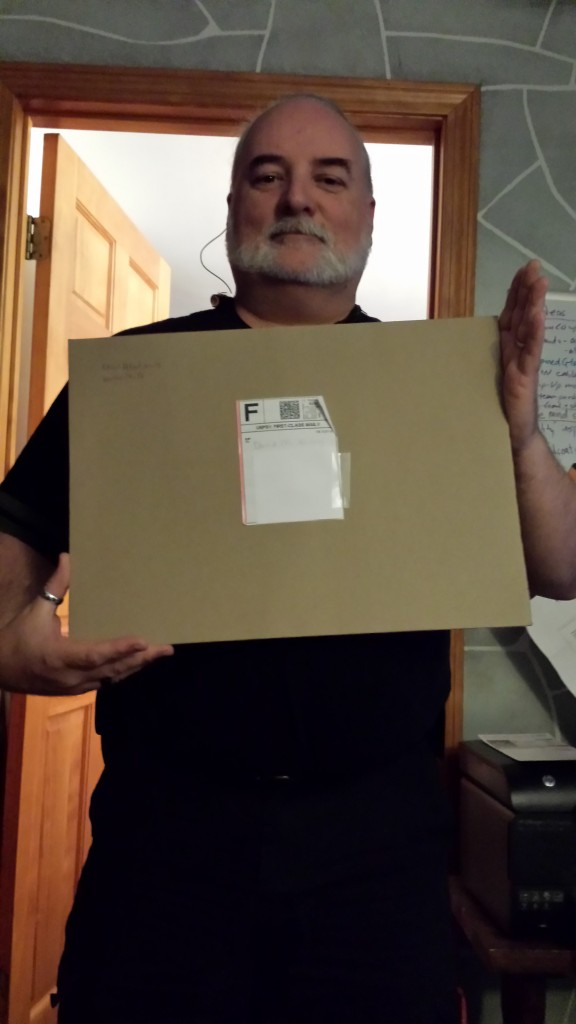 Me with the enormous envelope.