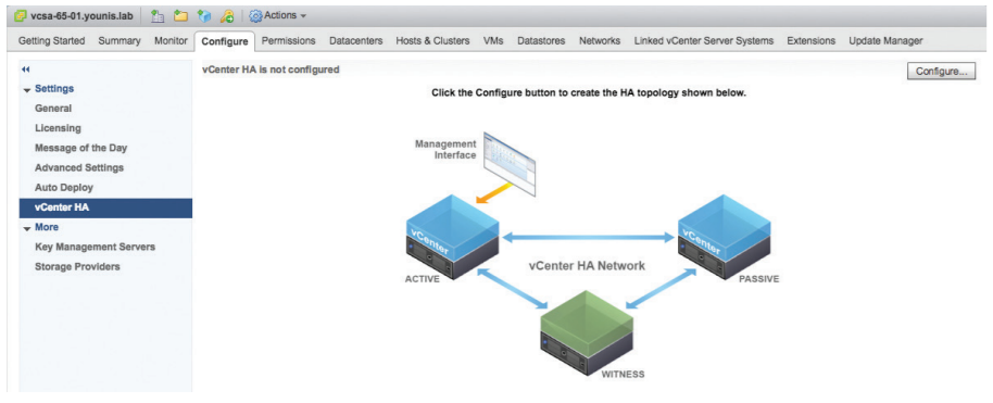 vcenter-appliance-ha-configuration